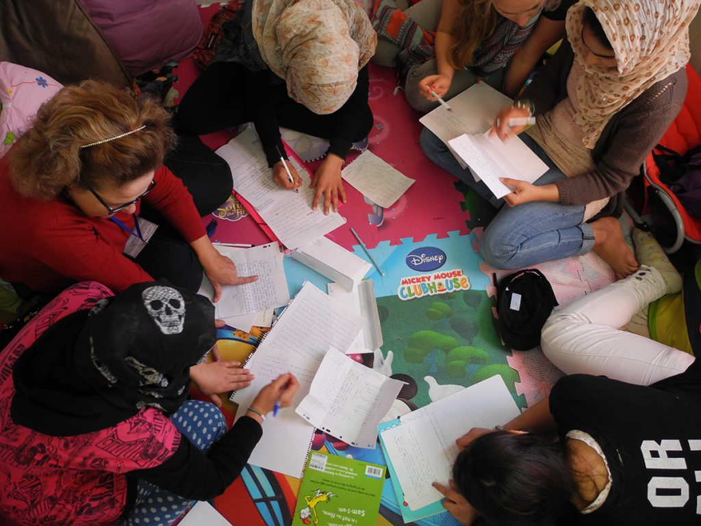 Crete for Life - teaching a group ofyoung refugees