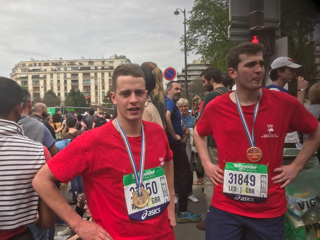 Crete for Life - fundraising marathon boys