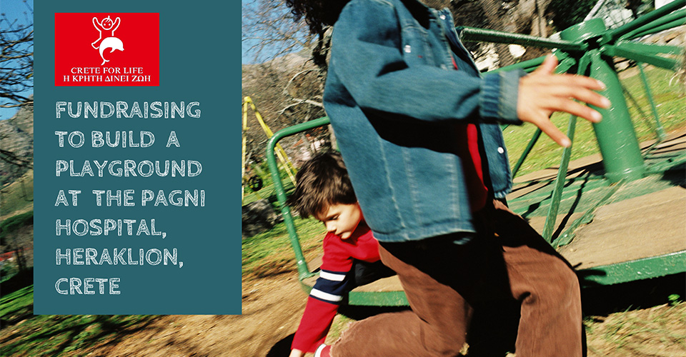 Donate Now - children's playground in Crete