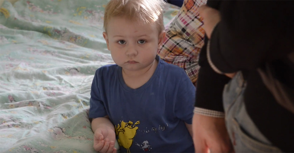 Donate Now - child from Belarus